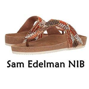Sam Edelman Olivie Thong Flip Flop Beaded Sandal 8